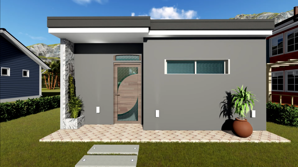 house plan 6x6 meters