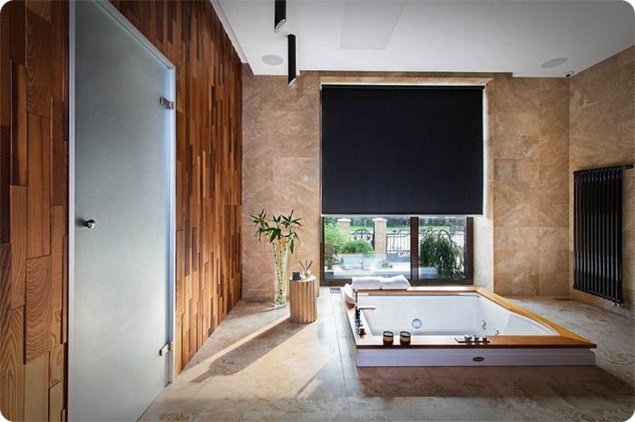 baños rústicos modernos