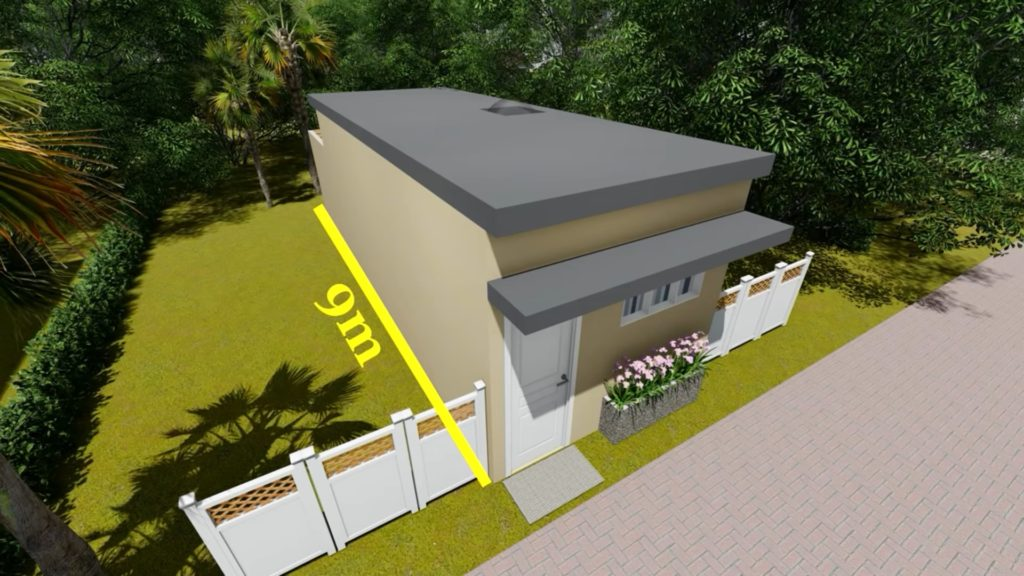 3 × 7 small house plan