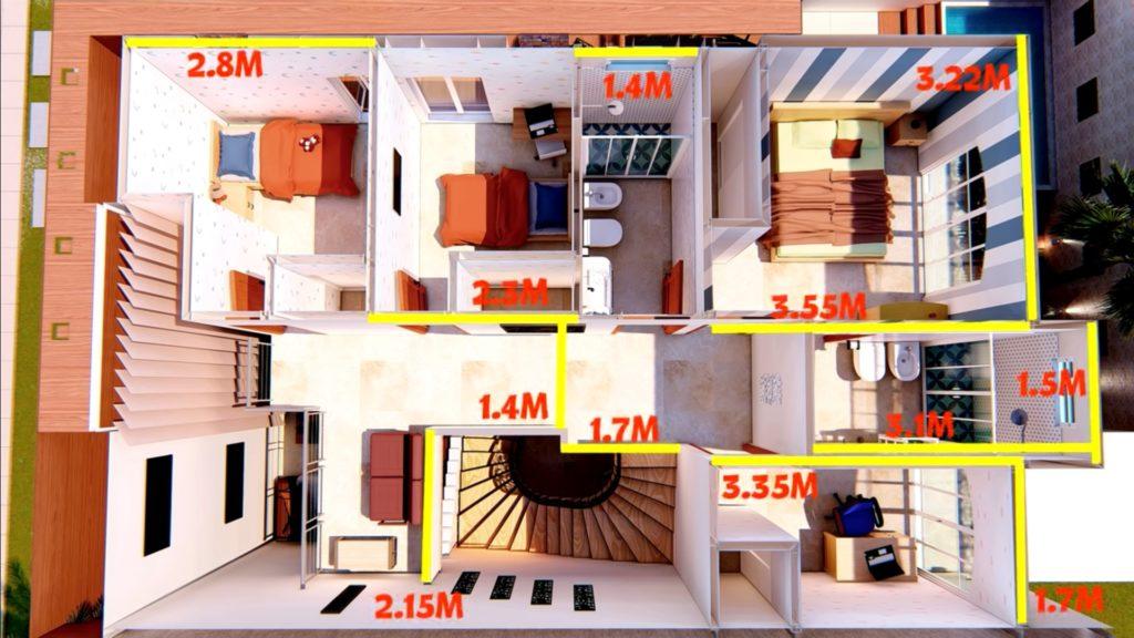 Plano de casa de 10x15