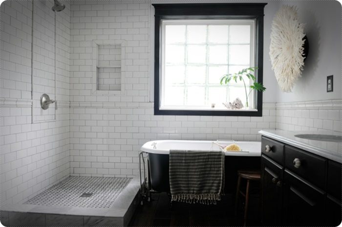 Modern vintage bathrooms