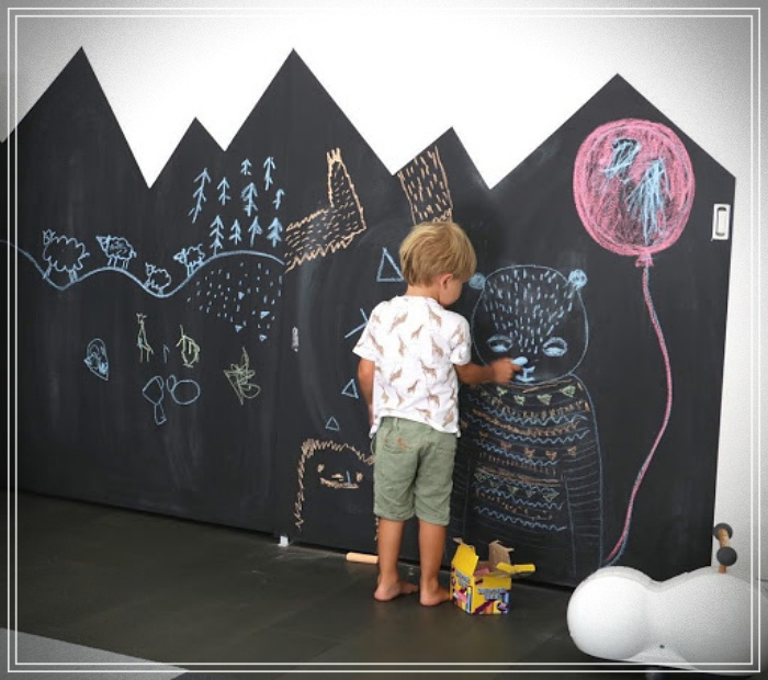 Ideas so that children do not paint the walls