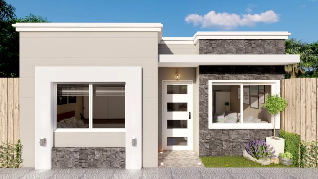 house plan 7x7 meters