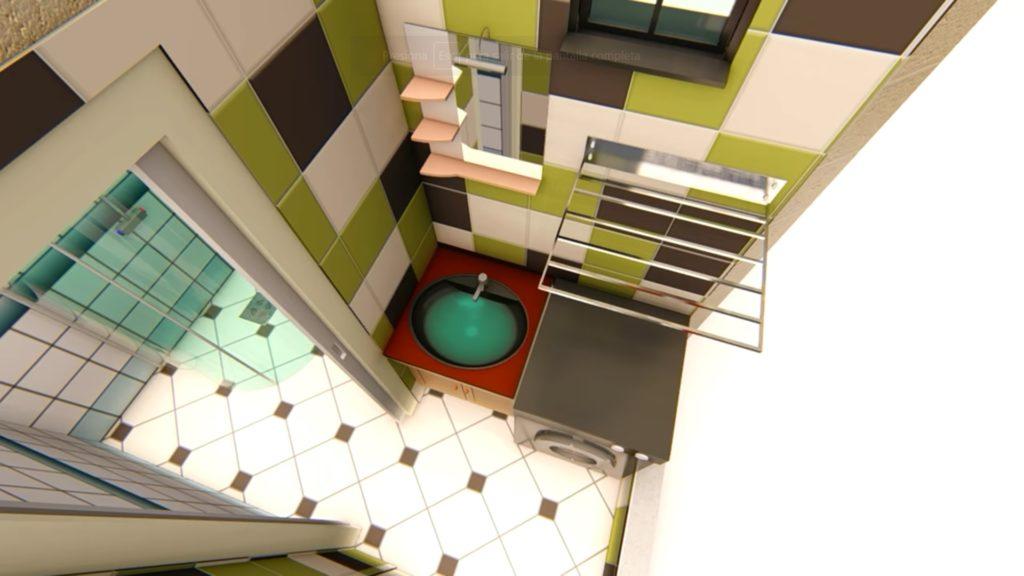 Plano de casa 3x6 metros