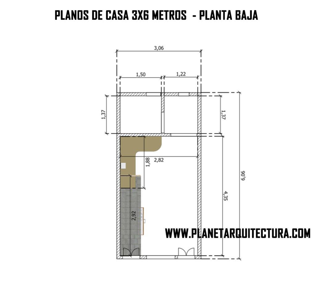 House plan 3x6 meters