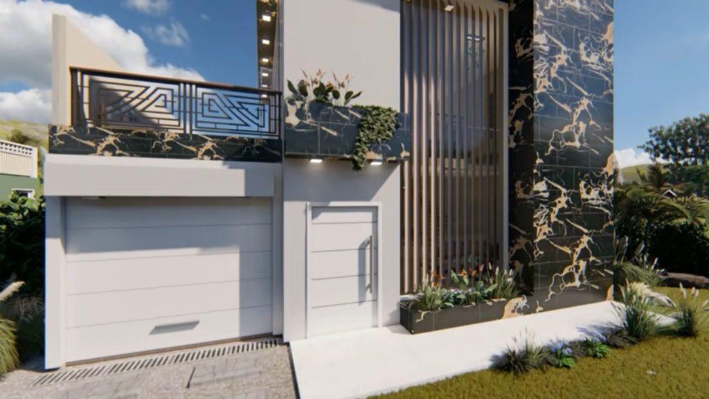 Plano de casa 10x15m - 3 Dormitorios