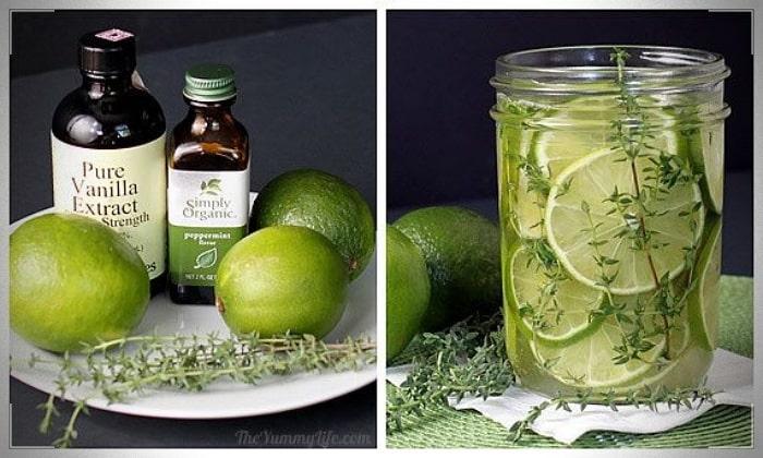 aromatizante casero de limón